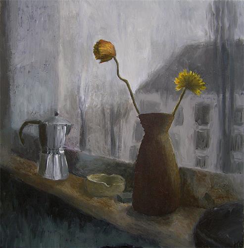 Katrin Ginster, küchenfenster 2, Stilleben, Gefühle: Depression, Gegenwartskunst, Abstrakter Expressionismus