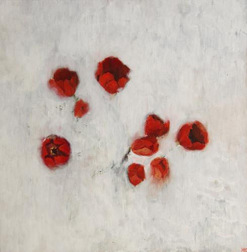 Katrin Ginster, festgefroren, Pflanzen: Blumen, Gefühle: Angst