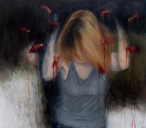 Katrin Ginster, Gedankengift 2, Gefühle: Angst, Tod/Krankheit, Gegenwartskunst, Abstrakter Expressionismus