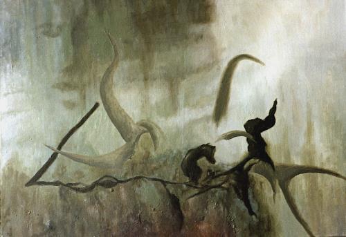 Katrin Ginster, Das Leichte und das Schwere, Abstraktes, Gegenwartskunst, Abstrakter Expressionismus