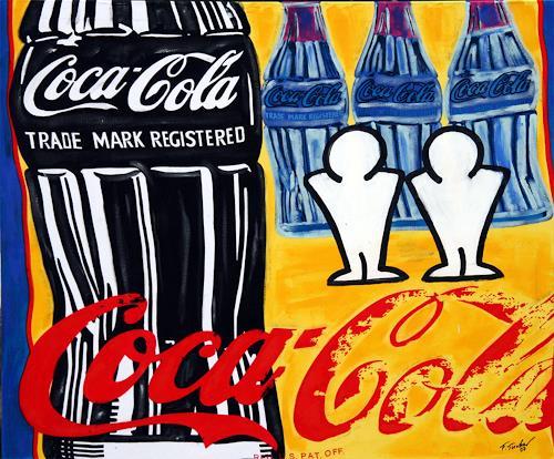 Francis Tucker, Andy und fFrancis trinken gerne Cola, Symbol, Dekoratives, Pop-Art