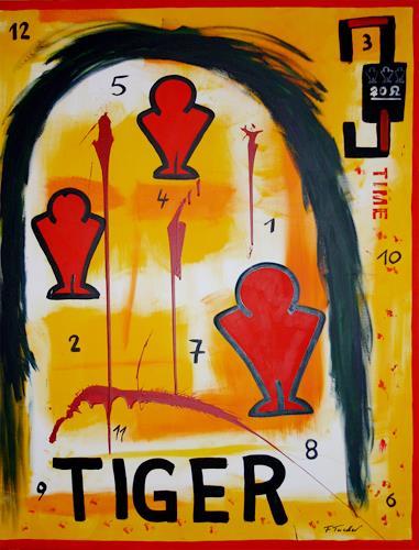 Francis Tucker, Time Tiger, Abstraktes, Arbeitswelt, Pop-Art