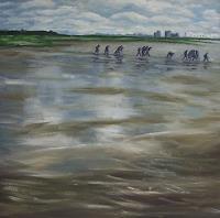 Brigitte-Courte-Landschaft-See-Meer-Gegenwartskunst--Gegenwartskunst-