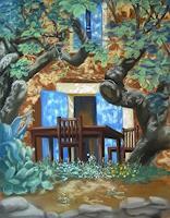 Brigitte-Courte-Landschaft-Sommer-Landschaft-Sommer-Moderne-Impressionismus-Neo-Impressionismus
