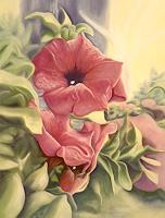 Brigitte-Courte-Pflanzen-Blumen-Pflanzen-Blumen-Neuzeit-Realismus