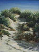 Brigitte-Courte-Landschaft-Strand-Landschaft-Sommer-Neuzeit-Realismus