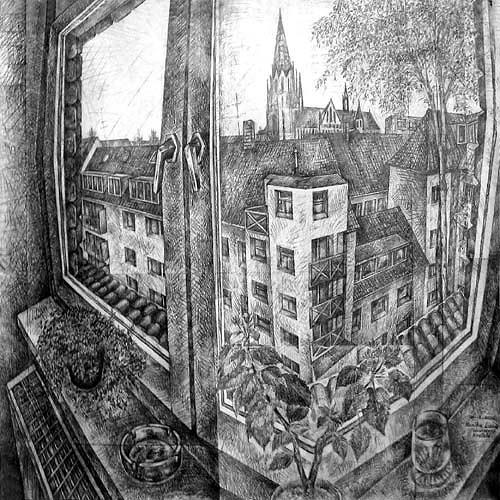 Monika Lassak, Fabrikstrasse, Krefeld, Wohnen: Zimmer, Wohnen: Zimmer, Realismus, Expressionismus