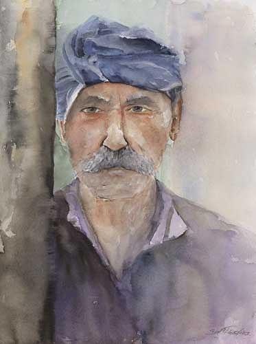 Berthold M. Rubenbauer, Der Grieche - Kaló taxidi, Menschen: Porträt, Menschen: Porträt, Expressionismus