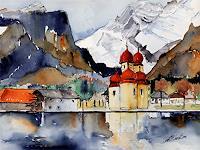 Berthold-M.-Rubenbauer-Landschaft-Berge-Gegenwartskunst--Gegenwartskunst-