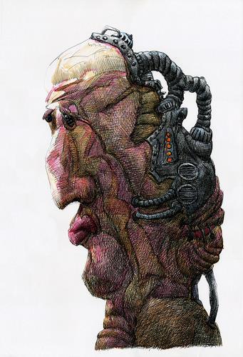 Walter  Rieseder, Kopfgeschichten, Gefühle: Horror, Gefühle: Depression, Abstrakter Expressionismus
