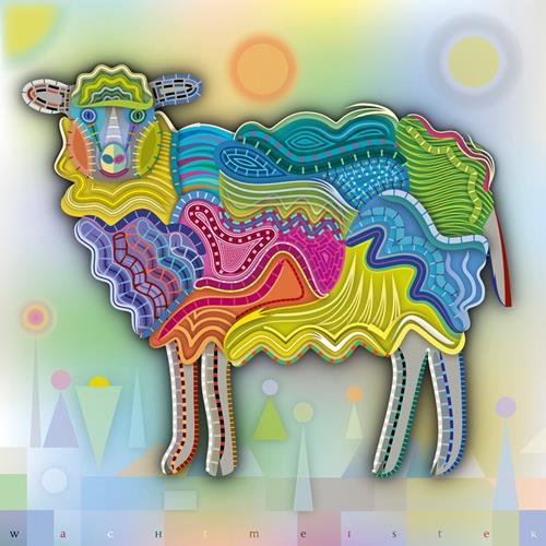 Bernd Wachtmeister, A-Lot-Of-Work-Sheep | Viel-Arbeit-Schaf, Tiere: Land, Natur: Diverse, Gegenwartskunst, Expressionismus