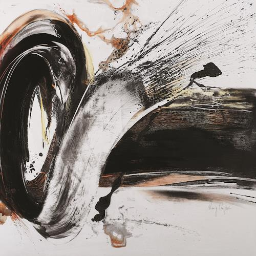 Romy Campe, Aufprall 2, Bewegung, Abstraktes, Gegenwartskunst, Abstrakter Expressionismus