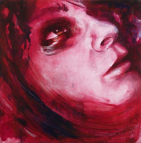 Romy Campe, Endlich vorbei, Menschen: Gesichter, Gefühle: Angst, Gegenwartskunst, Abstrakter Expressionismus