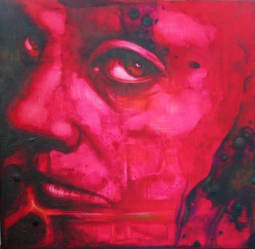 Romy Campe, Maulsperre, Diverse Gefühle, Menschen: Gesichter, Gegenwartskunst, Abstrakter Expressionismus