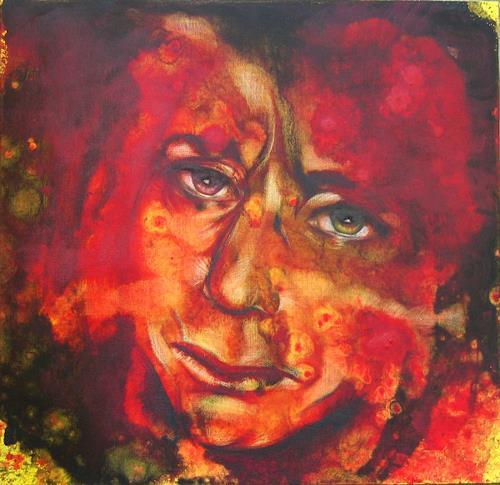 Romy Campe, Das letzte Mal 2, Diverse Gefühle, Menschen: Gesichter, Gegenwartskunst, Abstrakter Expressionismus