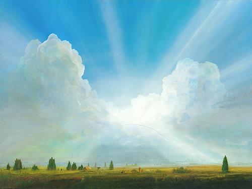 Silvian Sternhagel, Wolkenbrücke, Fantasie, Natur: Luft, Gegenwartskunst