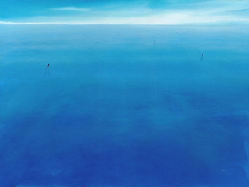 Silvian Sternhagel, Wasserläufer, Natur: Wasser, Skurril, Postmoderne