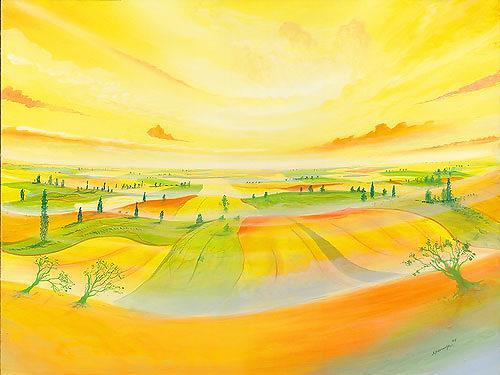 Silvian Sternhagel, Wellungen, Fantasie, Landschaft: Hügel, Surrealismus