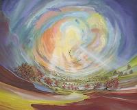 Silvian-Sternhagel-Bewegung-Landschaft-Huegel-Gegenwartskunst--Neo-Expressionismus