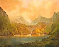 Silvian-Sternhagel-Landschaft-Berge-Landschaft-Sommer-Moderne-Impressionismus-Neo-Impressionismus