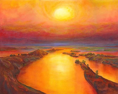Silvian Sternhagel, Farboase, Landschaft: See/Meer, Landschaft: Sommer, Neo-Impressionismus