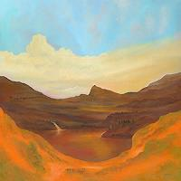 Silvian-Sternhagel-Landschaft-Berge-Landschaft-See-Meer-Moderne-Impressionismus