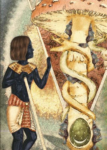 Mérovée, Der König im Schneckenhaus, Mythologie, Menschen: Mann, Gegenwartskunst