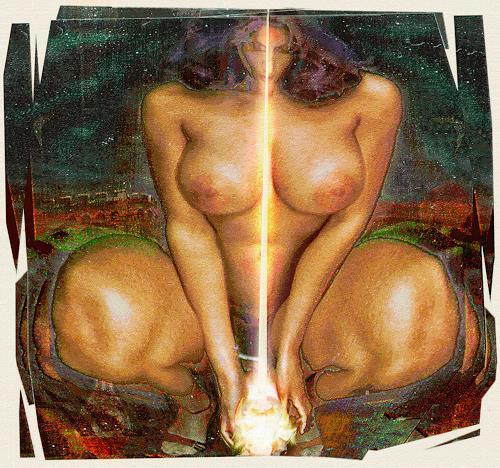 Mérovée, cybele, Mythologie, Akt/Erotik: Akt Frau, Gegenwartskunst, Expressionismus