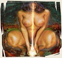 Merovee-Mythologie-Akt-Erotik-Akt-Frau-Gegenwartskunst--Gegenwartskunst-