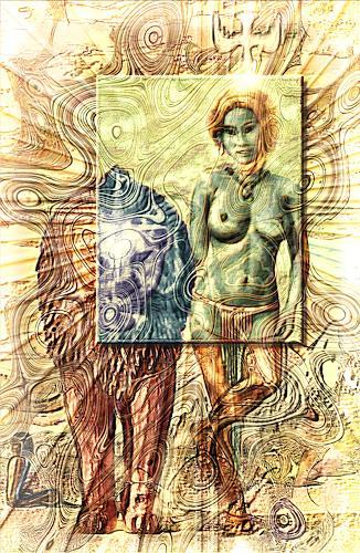 Mérovée, Die Erschaffung Evas, Menschen: Frau, Religion, Postsurrealismus
