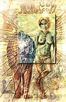 Merovee-Menschen-Frau-Religion-Gegenwartskunst--Postsurrealismus