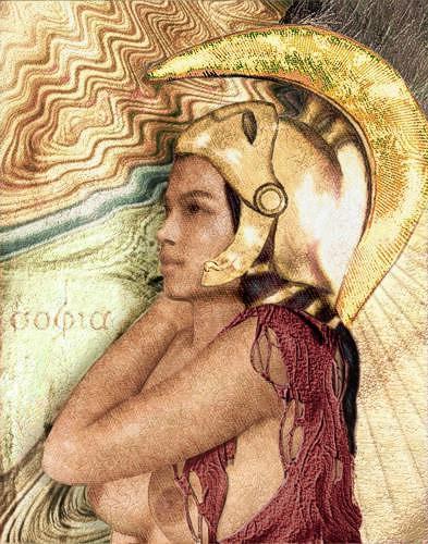 Mérovée, Sein weiblicher Name Weisheit, Mythologie, Religion, Gegenwartskunst, Expressionismus
