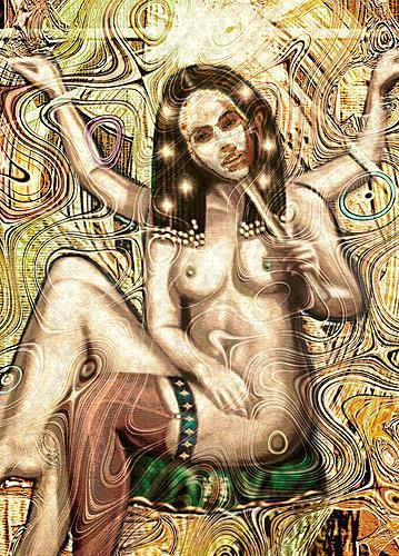 Mérovée, Blanca Flor, Mythologie, Akt/Erotik: Akt Frau, Gegenwartskunst