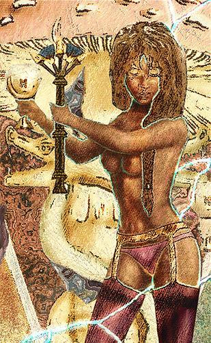 Mérovée, Die hermetische Braut, Mythologie, Menschen: Frau, Gegenwartskunst
