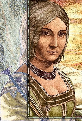 Mérovée, Portrait Nr.3 (Maria Magdalena), Menschen: Frau, Religion, Gegenwartskunst