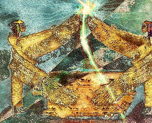 Mérovée, Flamme des sich wendenden Schwertes, Mythologie, Abstraktes, Gegenwartskunst