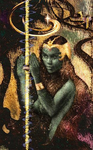 Mérovée, La Dame Noir, Mythologie, Fantasie, Postsurrealismus