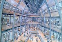 Ute-Heitmann-Architektur-Menschen-Gruppe-Gegenwartskunst--Gegenwartskunst-