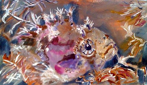 Ute Heitmann, clipfish II, Tiere: Wasser, Gegenwartskunst, Expressionismus