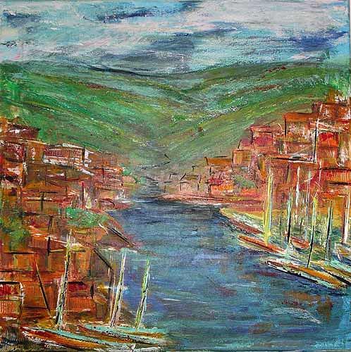 Ute Heitmann, italien 2004, Landschaft: See/Meer, Landschaft: Hügel, Gegenwartskunst
