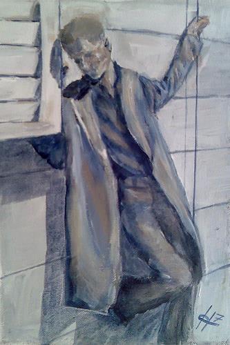 Ute Heitmann, Typ II, Menschen: Mann, Gegenwartskunst, Abstrakter Expressionismus