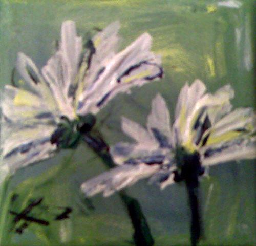 Ute Heitmann, Margeriten III, Pflanzen: Blumen, Gegenwartskunst