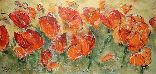 Ute Heitmann, Mohn I, Pflanzen: Blumen, Gegenwartskunst