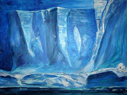Ute Heitmann, Arktis, Landschaft: Winter, Natur: Wasser, Gegenwartskunst