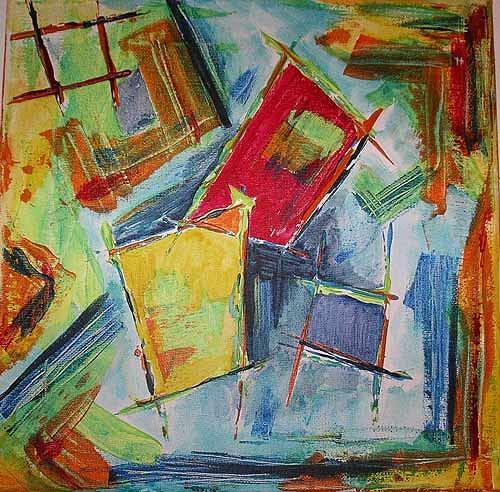 Ute Heitmann, Abstrakt I, Abstraktes, Gegenwartskunst