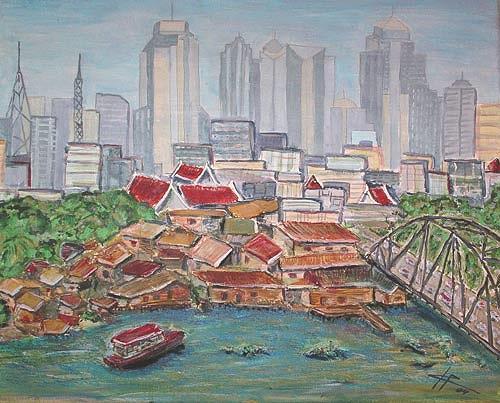 Ute Heitmann, Bangkok, Architektur, Bauten: Hochhaus, Gegenwartskunst