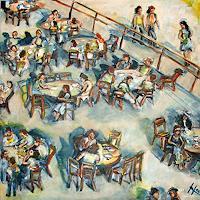 Ute-Heitmann-Menschen-Gruppe-Situationen-Gegenwartskunst--Gegenwartskunst-