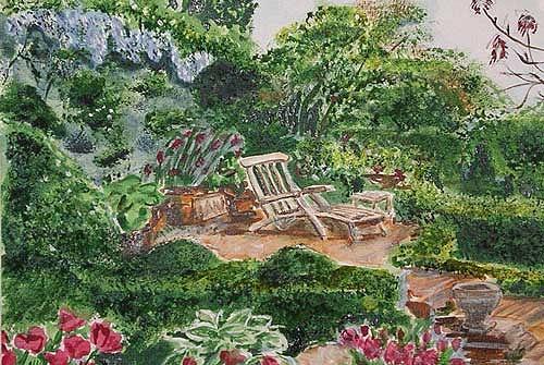 Ute Heitmann, Garten I, Freizeit, Pflanzen: Blumen, Gegenwartskunst