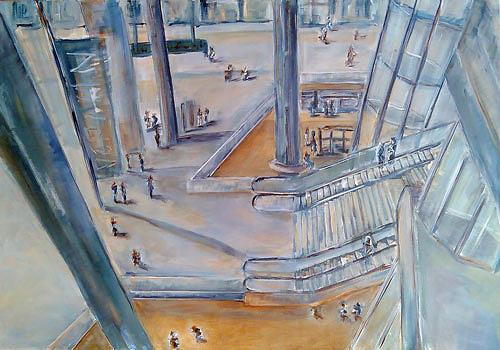 Ute Heitmann, Bahnhof Berlin, Architektur, Diverse Menschen, Gegenwartskunst