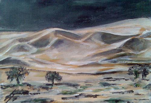 Ute Heitmann, Dünen, Landschaft: Hügel, Natur: Erde, Gegenwartskunst